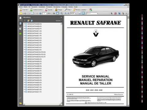 renault safrane manual de taller service manual manuel rh youtube com renault safrane manual english renault safrane workshop manual