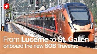 Train Trip Report | Voralpen Express  1st Class  | Lucerne - St. Gallen 🇨🇭 | Sob Traverso Rabe 526