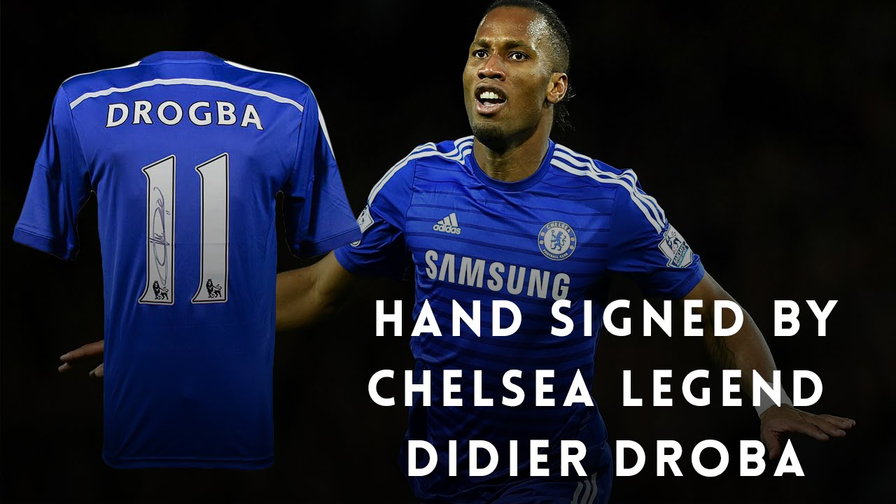 timeless design 00be7 398ee Didier Drogba Signed Chelsea Jersey