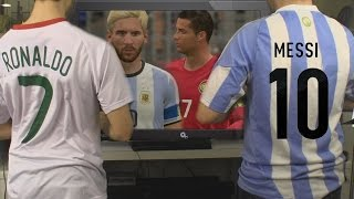 Cristiano Ronaldo vs. Messi -  FIFA 17 International 'Friendly' | In Real Life!