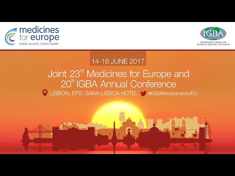 Medicines for Europe  - Annual Conference   Lisbon 2017