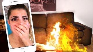 BOYFRIEND FACETIME FIRE PRANK!