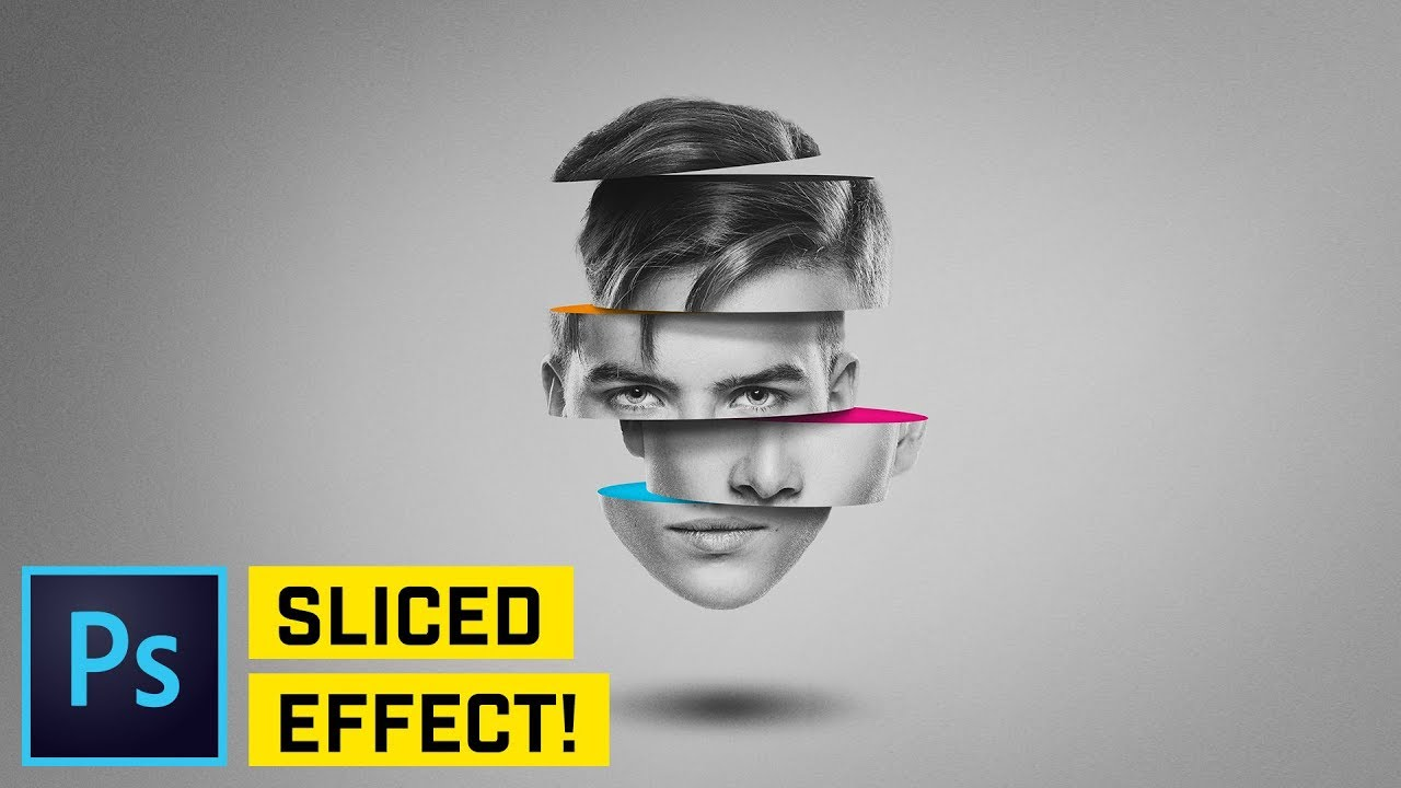 Sliced Head Manipulation - Photoshop CC Tutorial