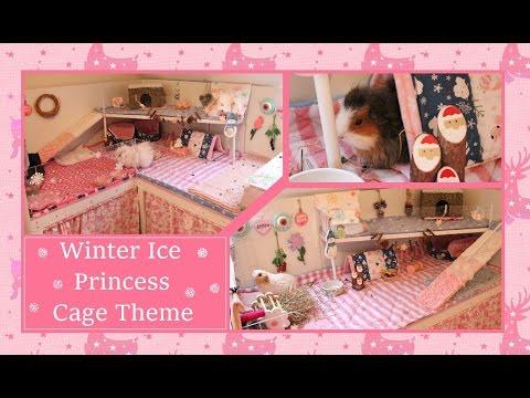 Winter Ice Princess Guinea Pig Cage Tour