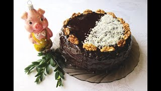"""Нежнейший ПРАЗДНИЧНЫЙ Шоколадно-Творожный пирог """"ДЕНЬ и НОЧЬ""""! Очень ВКУСНО и  Очень ШОКОЛАДНО."""