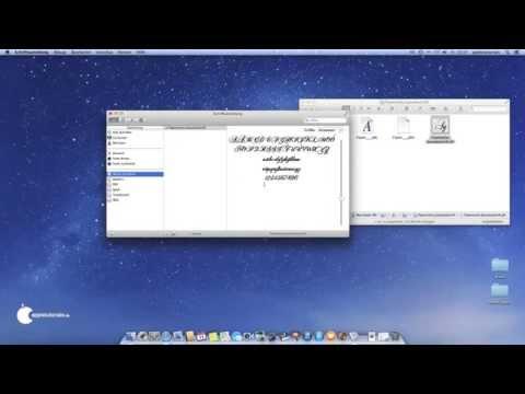 Mac OS X: Schriftarten Am Mac Installieren