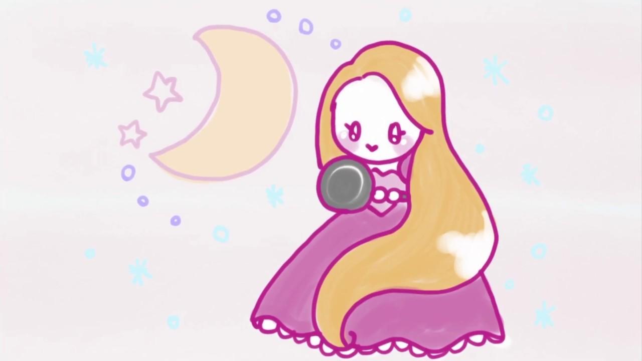 ゆめかわ風ラプンツェルrapunzel簡単かわいいイラストレッスン46