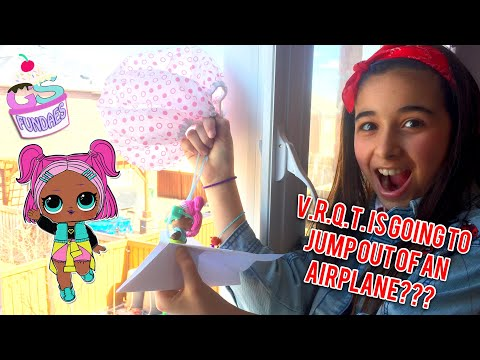 """Can V.R.Q.T LOL survive jumping off the Airplane? """"LOL Surprise Doll VRQT"""""""