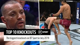 Top 10 UFC and boxing knockouts in July 2019