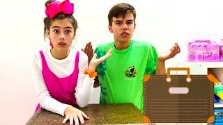 Настя и Артем - весёлые соревнования и челлендж с игрушками