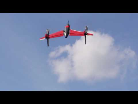 Repeat Swiss Aerobotics Hummel VTOL tailsitter powered by