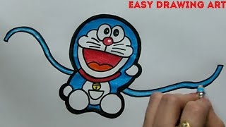 how to make handmade doremon rakhi drawing || how to make rakshabandhan greeting card drawing