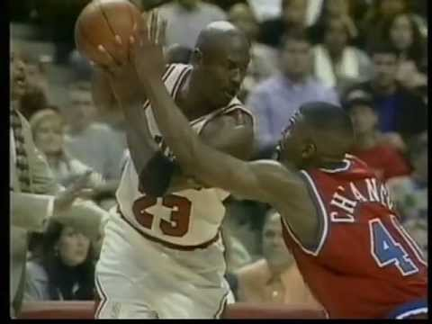 Michael Jordan 55 points, playoffs 1997 bulls vs bullets game 2