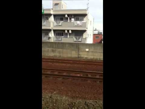 Nankai Express in Japan, toward Shinimamiya Sta from Sakai Sta.(南海特急、堺から新今宮)