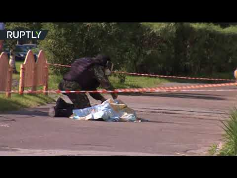 Download Youtube: RAW: Knife attack in Russia, 7 injured, assailant killed by police