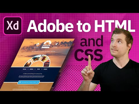 Convert Adobe XD to Responsive HTML and CSS website
