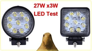 Фара LED 27W тест обзор, x 3W Work Light