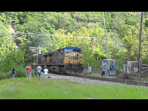 CSX 4-Engine Train, Trespassers, & Drone In Ilchester, Maryland