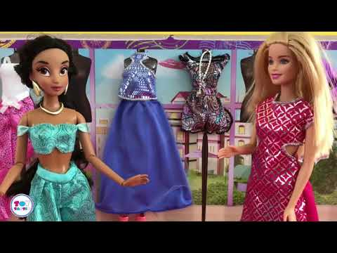Barbie Elsa Disney Princess Dolls Fashion Games! Makeover Challenge! Full Toys Movie in English!