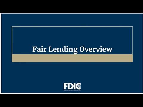Fair Lending Overview:  Credit Discrimination Risks and the FDIC Fair Lending Review Process