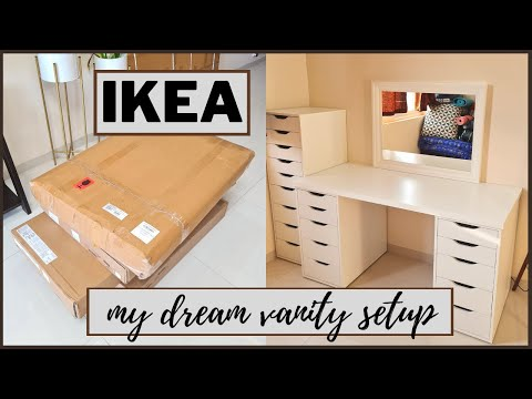 ♡ My Dream Vanity   My Ikea Vanity Setup: Lagkapten Table Top with Alex Drawers   Little Pixie Dust