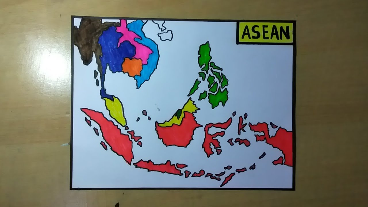 Cara Menggambar Peta Asia Tenggara Youtube