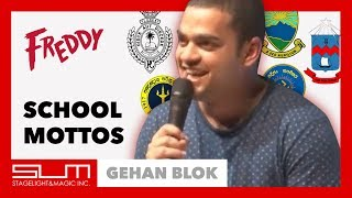 Sri Lankan School Mottos And What They Actually Mean | Gehan Blok at Freddy