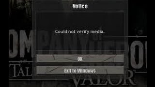 Company of Heroes How to fix Could Not Verify Media / enter CD