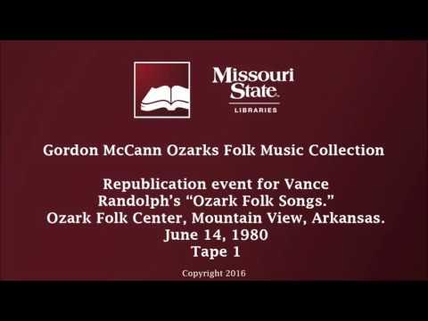 """McCann: Republication for """"Ozark Folk Songs,"""" June 14, 1980 - 1"""