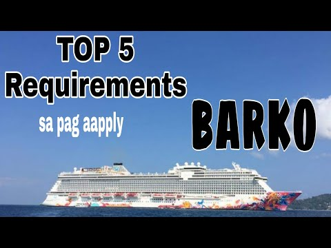 TOP 5 REQUIREMENTS TO APPLY IN CRUISESHIP | PAANO BA MAG-APPLY SA BARKO | Xixi TV