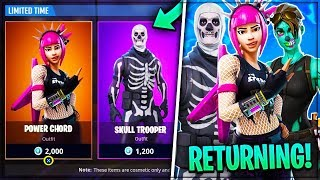 OLD SKINS ARE RETURNING TO FORTNITE! (Power Chord, Skull Trooper - PLUS!) - Fortnite: Bataille Royale