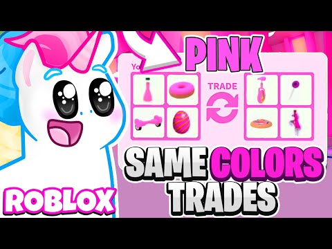 I Can ONLY Accept The *SAME COLOR* Trade In Adopt Me! ONE COLOR TRADING CHALLENGE! Roblox Adopt Me