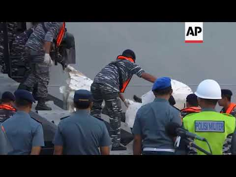 Recovered debris from Lion Air plane crash brought to Jakarta