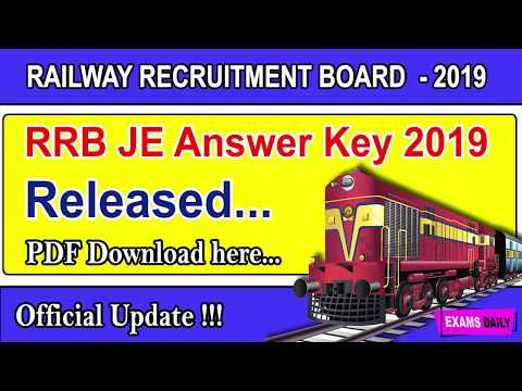 RRB JE Stage 1 Key Answer Link 2019 - Download Railway CBT 1