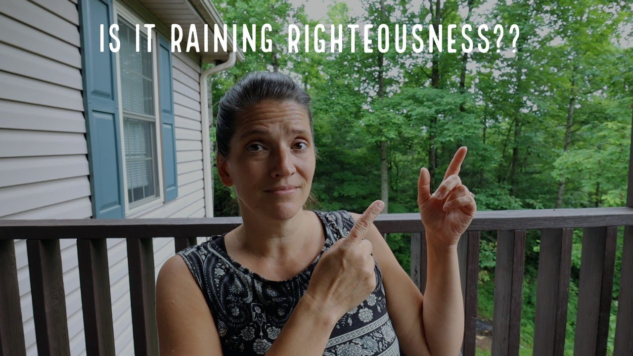 Its time to seek to RAIN  righteousness on YOU!!