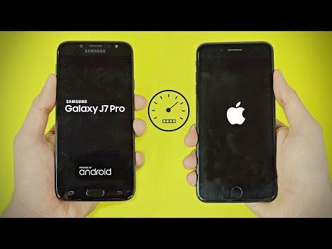 Samsung Galaxy J7 Pro 2017 vs iPhone 7 Plus - Speed Test! (4K)