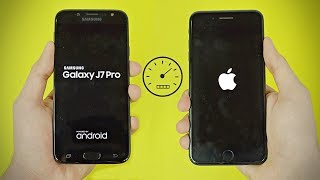 Samsung Galaxy J7 Pro 2017 vs iPhone 7 Plus - Speed Test! (4K)