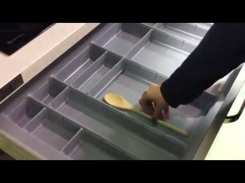 Cubertero modular para caj n de cocina blum youtube - Cajones de cocina ikea ...