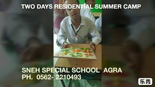 Sneh special school Agra Summer camp for students