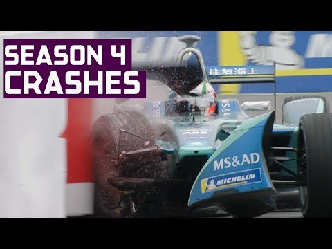 Crash Compilation! All The Big Spills In Season 4 | ABB FIA Formula E Championship