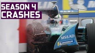 Crash Compilation! All The Big Spills In Season 4 | ABB FIA Formula E Championship
