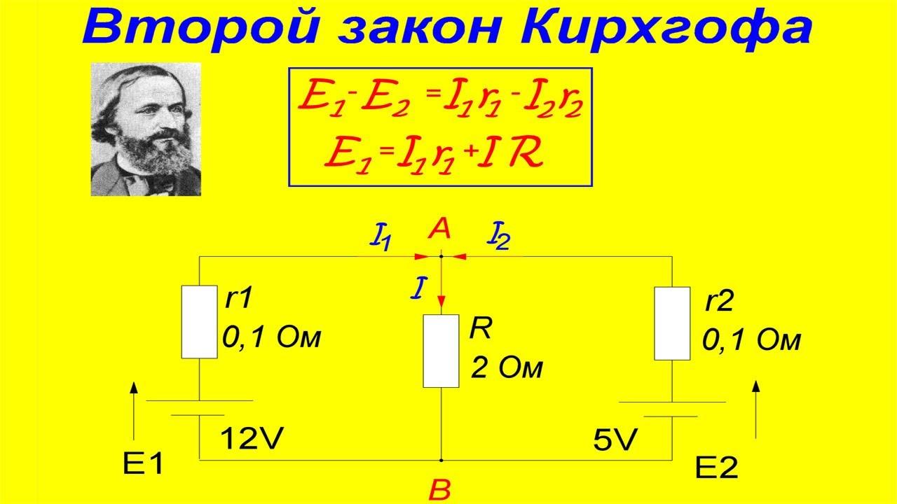 Второй закон Кирхгофа. Смотри и изучай! - YouTube