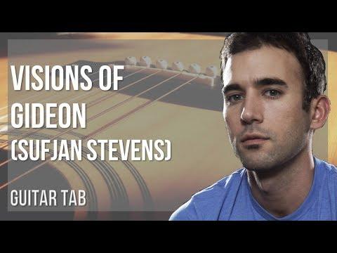 EASY Guitar Tab: How to play Visions of Gideon by Sufjan Stevens