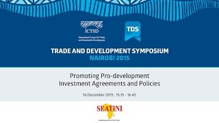 TDS LIVE | Promoting Pro-development Investment Agreements and Policies