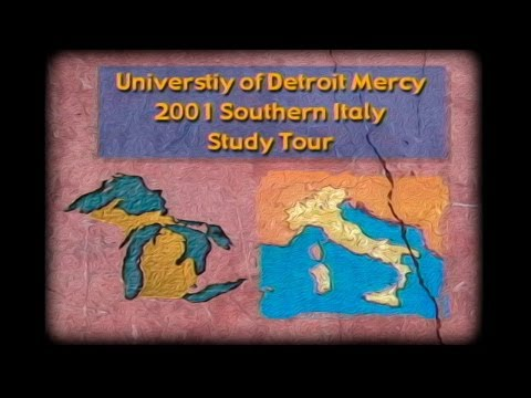 UDM Southern Italy Study Tour Overview