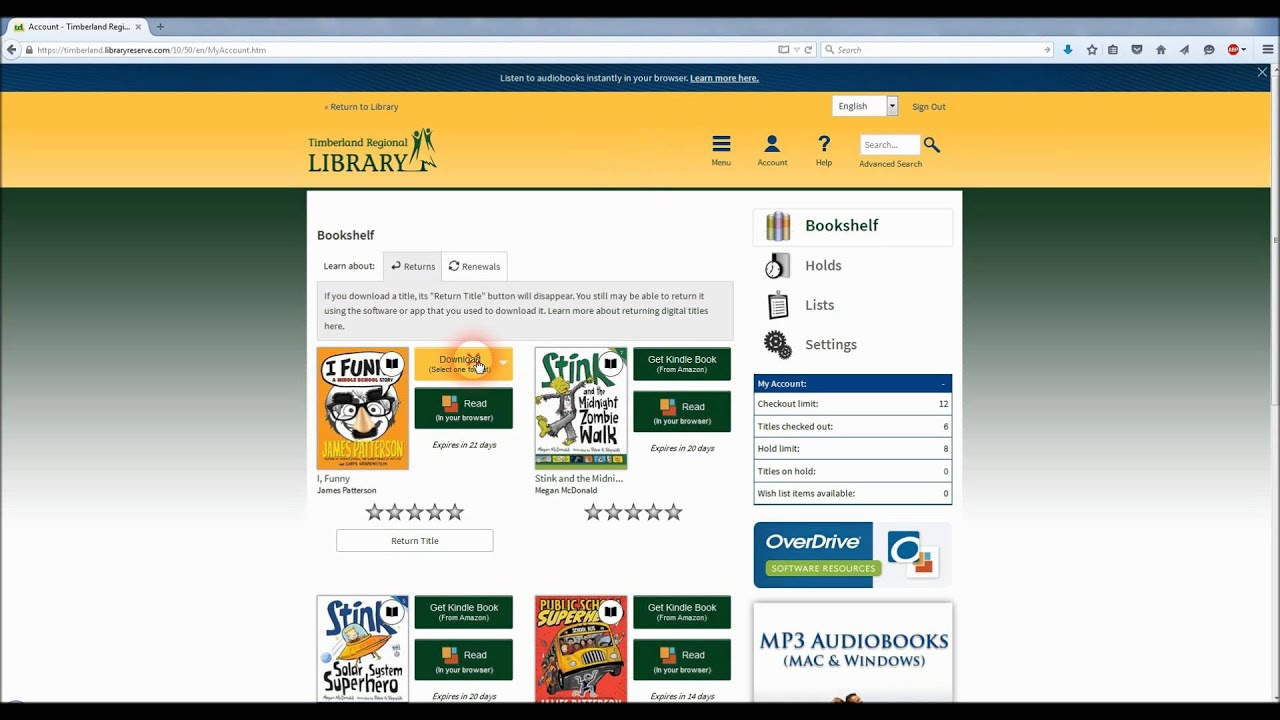 how to get ebooks from library