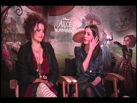 Helena Bonham Carter and Anne Hathaway Interview for Alice I