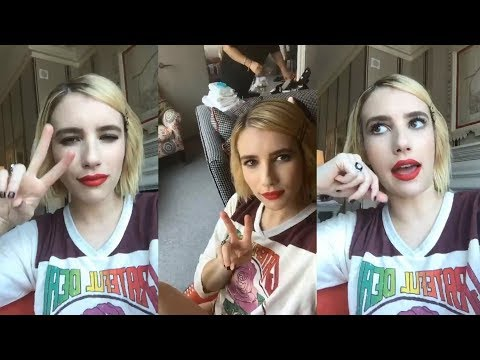 Emma Roberts  Instagram Live Stream  12 September 2017