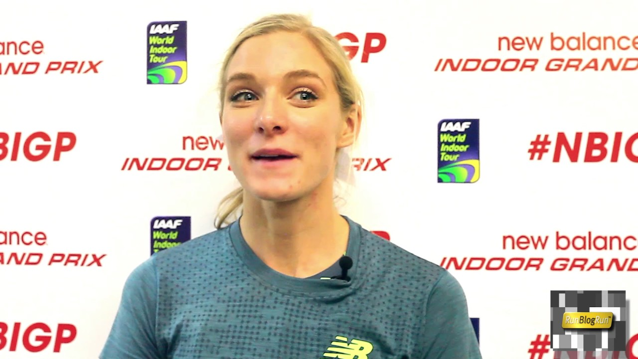 Emma Coburn Interview at 2017 New Balance Indoor Grand Prix