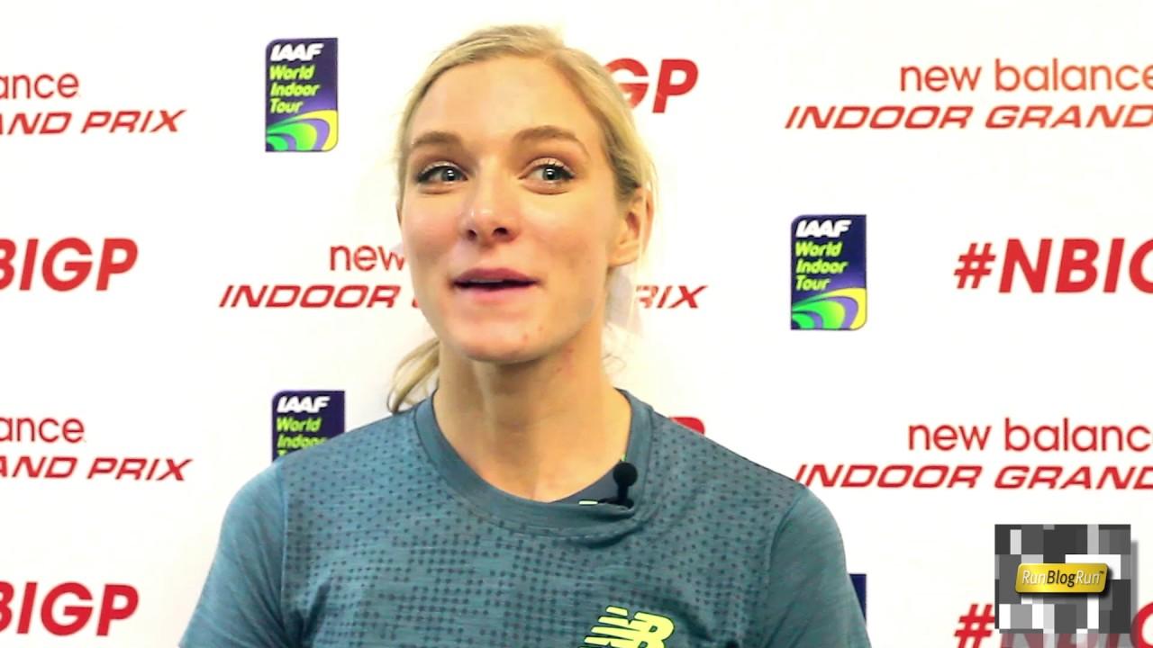 Emma Coburn Interview at 2017 New Balance Indoor Grand Prix